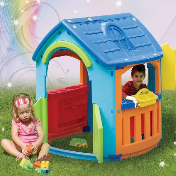 Cubby house with kitchen and workshop, $189.95
