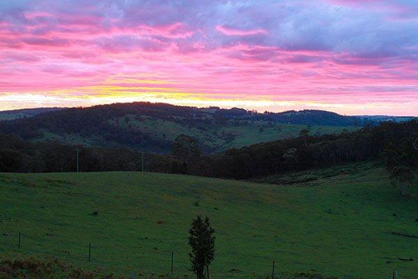 Sunsets at Duckmaloi Farm