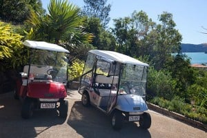 Use your complimentary buggy for getting around Hamilton Island