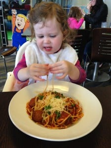 Miss 2's Meatballs and Spaghetti