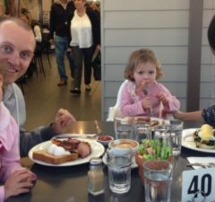 Relaxed family dining at Cafe Mirabelle, Terrey Hills