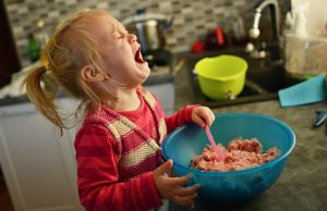 Upset Toddler In Kitchen