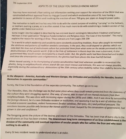 Letter from St Ives Progress Association (SIPA)