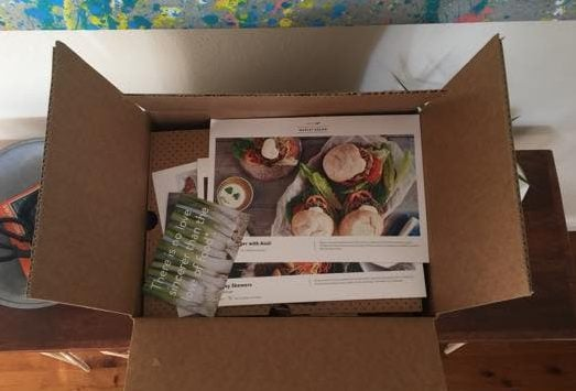 Inside the Marley Spoon delivery box
