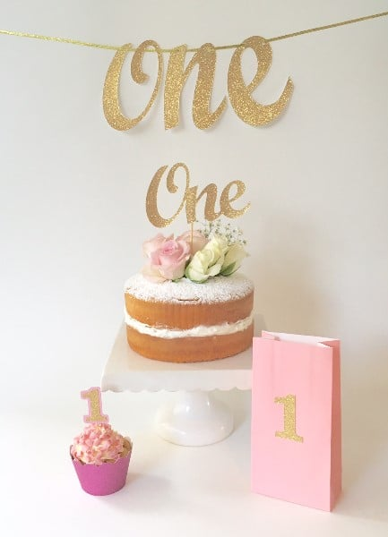 one-cake-toppper-bunting-party-pack-gold-glitter