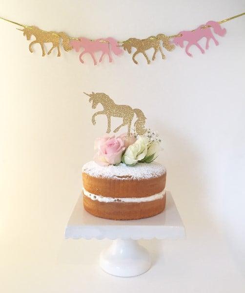 unicorn-pink-gold-glitter-bunting-garland-cake-topper