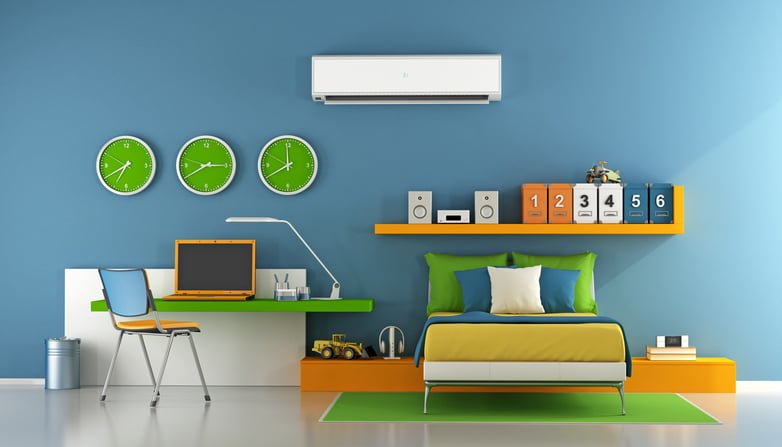 Air-on-in-kids-bedroom