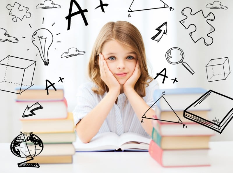 Girl-with-books-pictures-surrounding