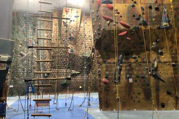 Indoor rock climbing north shore