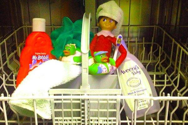 Elf in dishwasher