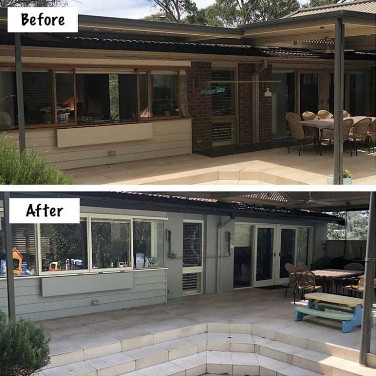 Painting Exterior Before & After