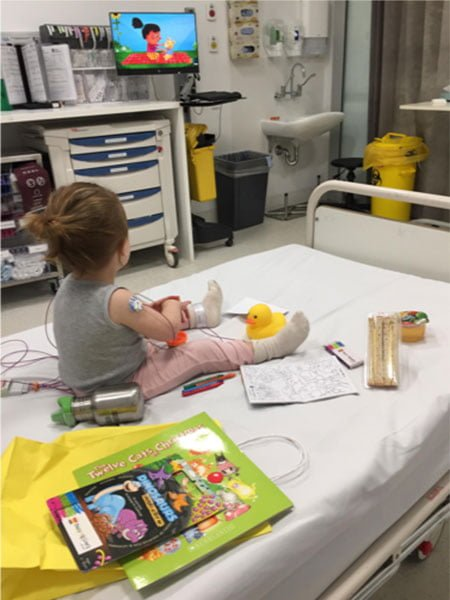 Gift pack for sick child in hospital