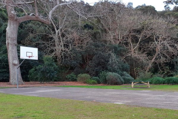 A mini basketball court at Clifton Gardens