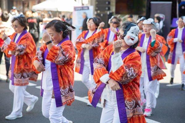 Japanese cultural performances of dances