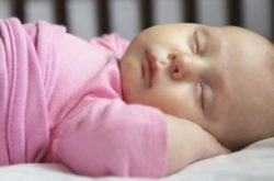 Getting baby's sleep back on schedule...after a family night out!