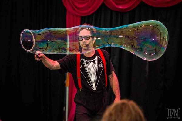 Giant Bubbles at Spot On Children's Festival, Parramatta