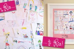 How to turn your children's drawings into framed artwork!