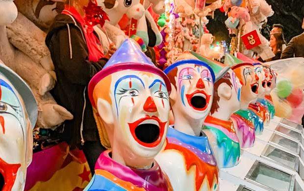 A clown game at a fete