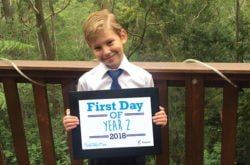 Get your FREE 'First Day of School' A4 printables right here!