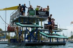"""Fun! Awesome! Scary good!"" The Jungle Float mobile water park"