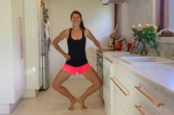 Kitchen Bench 'Barre' Workout