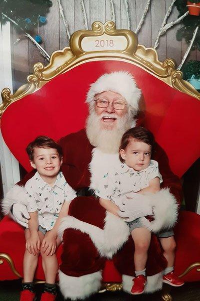 Funny santa photo