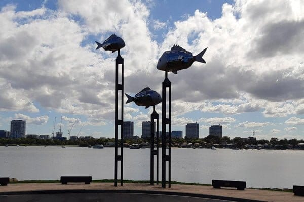 Fish sculpture at Putney