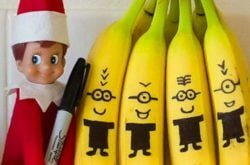 Easy Elf on the Shelf ideas from our cheeky chaps at home