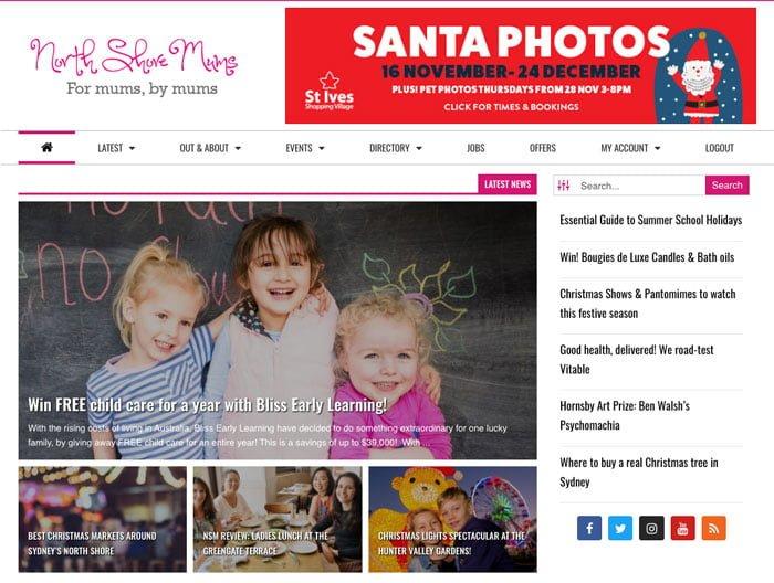North Shore Mums website