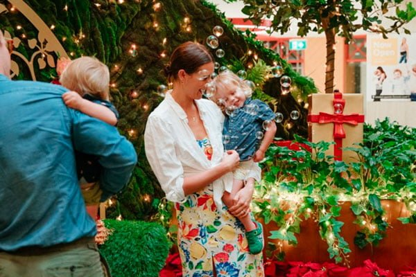 Children visiting Santa at Macquarie Centre