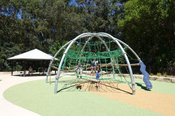 A green climbing arch