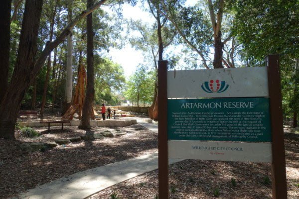 New Artarmon Reserve Playground Entrance