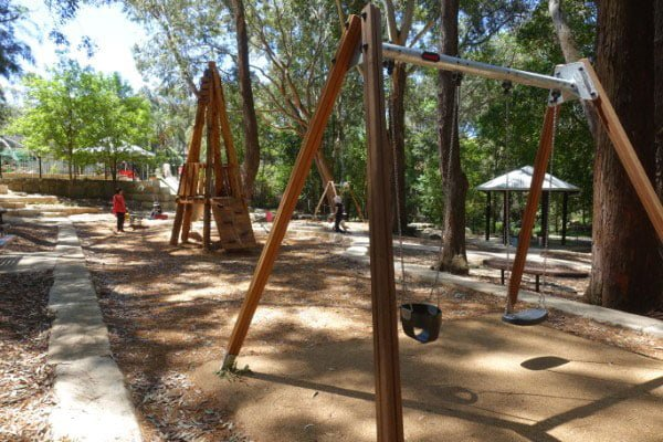 Playground equipment at the reserve