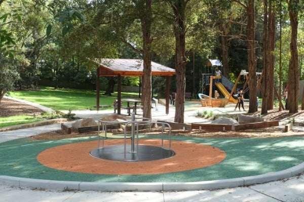 The new equipment for Turramurra playground