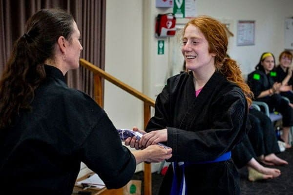Prizegiving at martial arts
