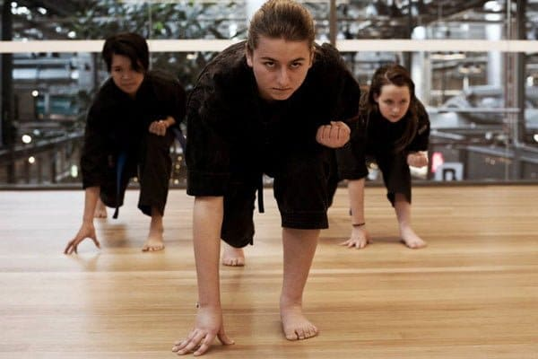 Mum training at jujitsu