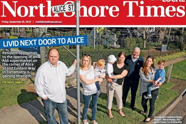 North Shore Times protest