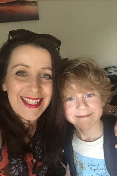 Mum and seven year old son