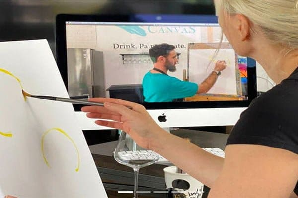 Online Paint and sip red balloon