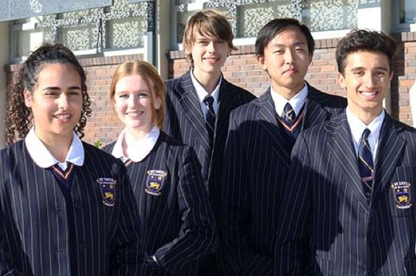 Students in St Leos uniform