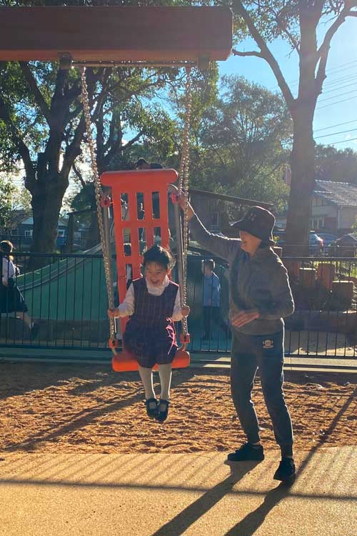 Willoughby Park Playground swings