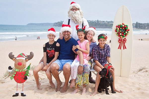 Aussie Santa on the beach
