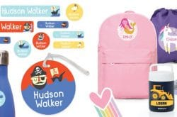Back To School! Get organised with personalised bags, labels & more...