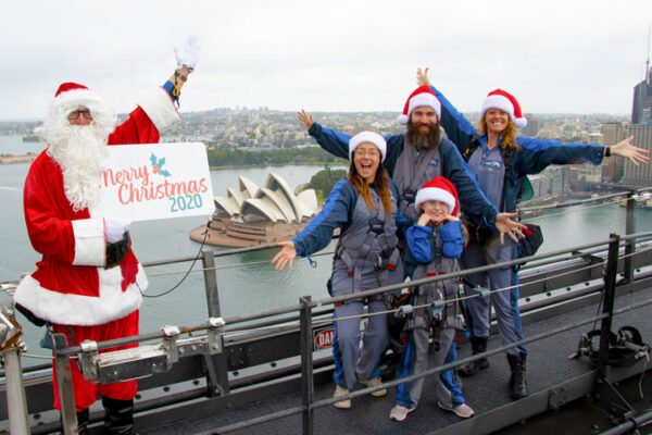 Santa photo on Sydney Harbour Bridge