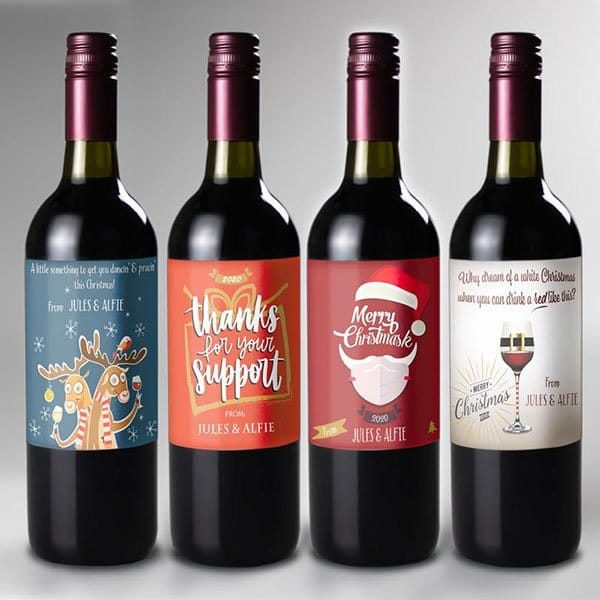 Personalised gifting wine labels