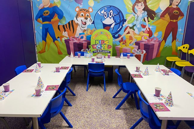 Party room at Kids World Macquarie Centre