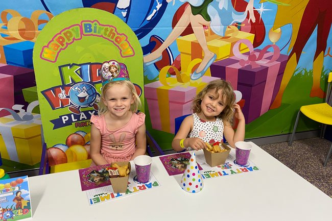 Kids World party food