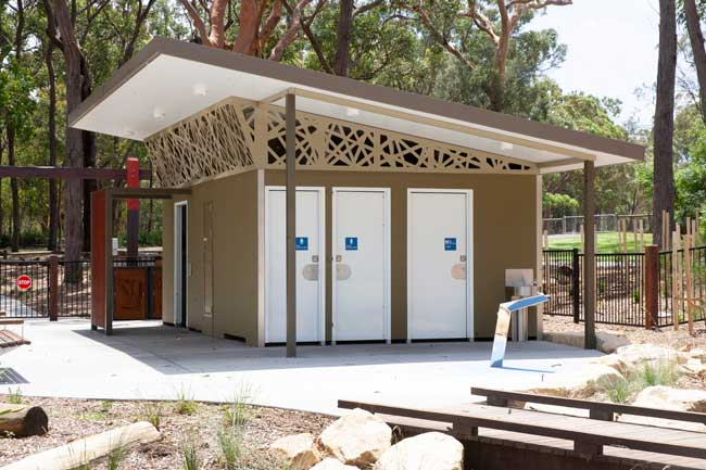 Toilets at St Ives Showground playground