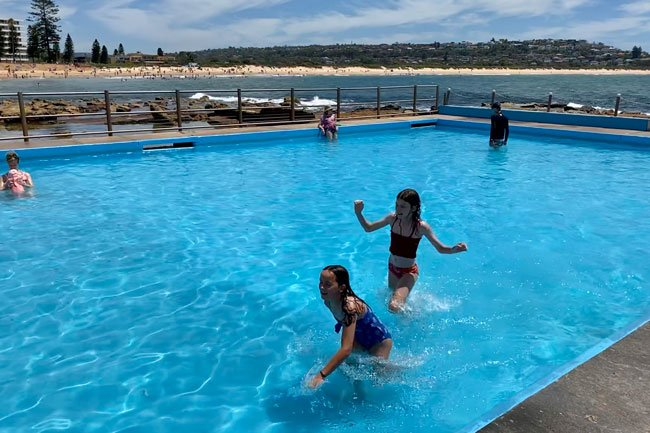 Toddler ocean pool at Dee Why Beach