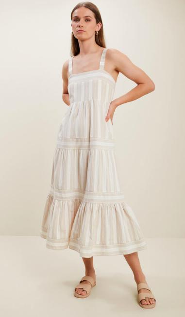 Seed Stripe Midi Dress, $149.95